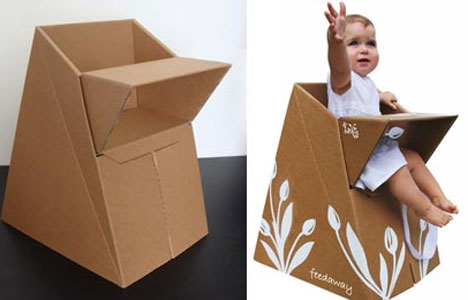 Cardboard-baby-seat